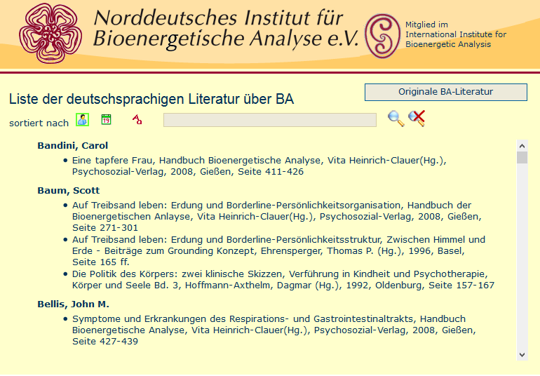 German Litterature (List provided by NIBA)