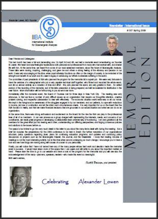 Newsletter - Spring 2009  [EN, FR, DE, ES]