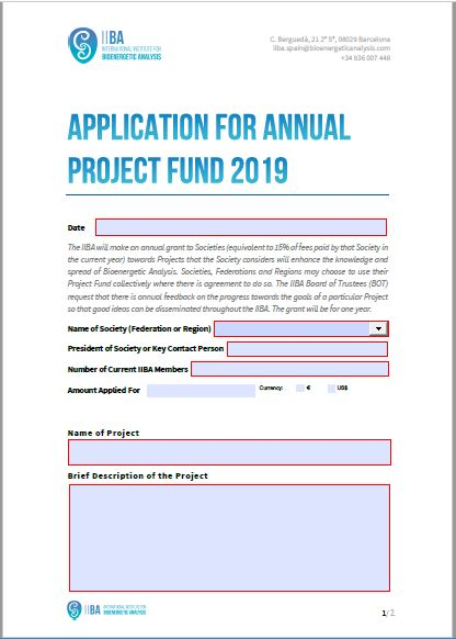 Annual Project Fund 2019