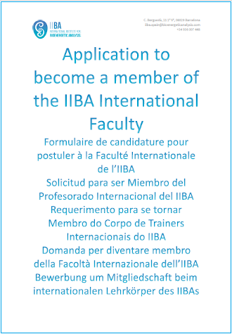 IIBA Faculty - Application Form for Membership